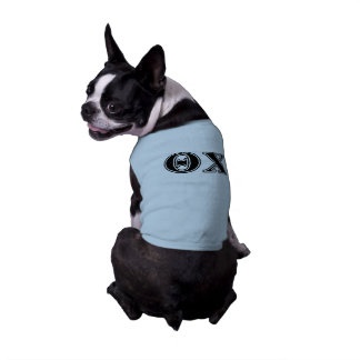 Theta Chi Black Letters Doggie Tee Shirt