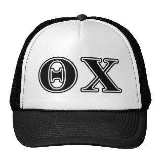 Theta Chi Black Letters Hat