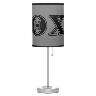Theta Chi Black Letters Lamp