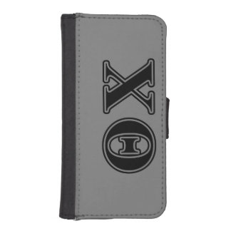Theta Chi Black Letters Phone Wallets