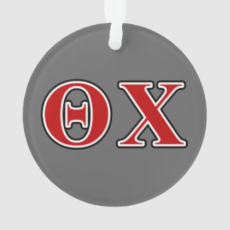 Theta Chi Red and Black Letters