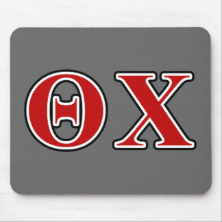 theta chi red and black letters mouse pad