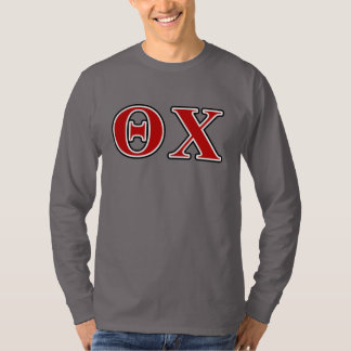 Theta Chi Red and Black Letters Shirt
