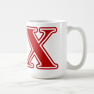 Theta Chi Red Letters Coffee Mug