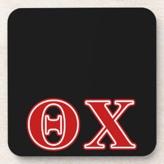 Theta Chi Red Letters Drink Coasters