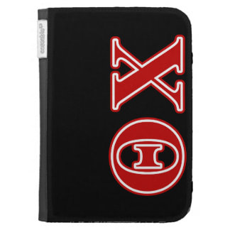 Theta Chi Red Letters Kindle Keyboard Case
