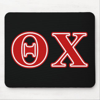 theta chi red letters mouse pad