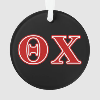 Theta Chi Red Letters Ornament