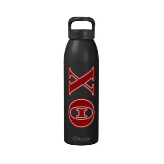 Theta Chi Red Letters Reusable Water Bottles