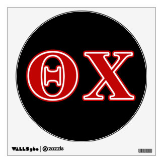 Theta Chi Red Letters Room Sticker