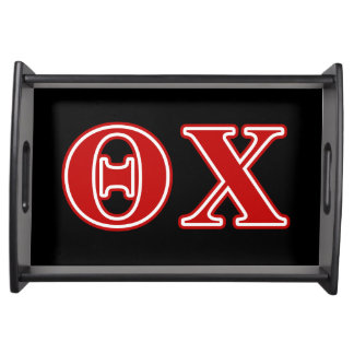Theta Chi Red Letters Service Trays