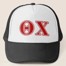 Theta Chi Red Letters Trucker Hat
