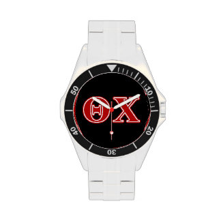 Theta Chi Red Letters Wristwatches