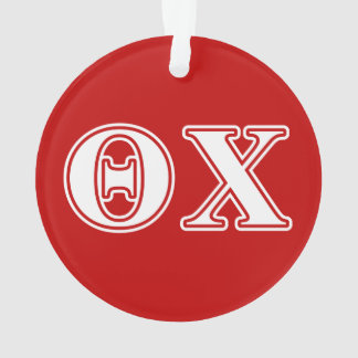 Theta Chi White and Red Letters