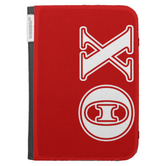 Theta Chi White and Red Letters Cases For The Kindle