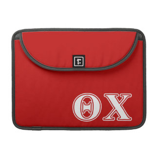 Theta Chi White and Red Letters Sleeve For MacBooks
