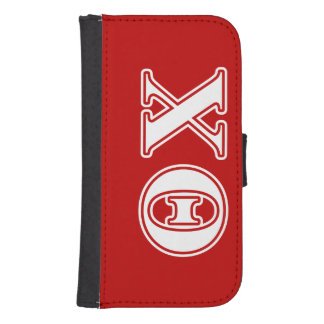 Theta Chi White and Red Letters Phone Wallets