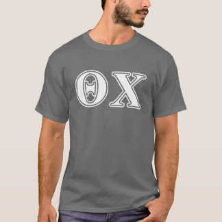 Theta Chi White and Red Letters T-Shirt