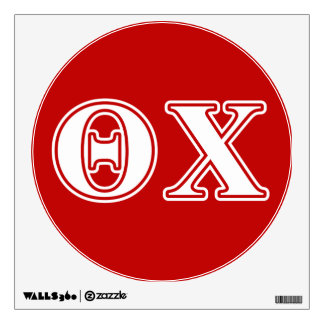 Theta Chi White and Red Letters Wall Decal