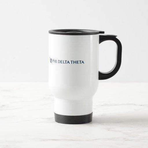 Theta del delta de la phi - logotipo horizontal taza de viaje de acero inoxidable