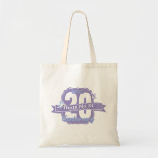 Theta Nu Xi 20th Anniversary Canvas Tote