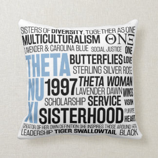 Theta Nu Xi Pillow w/ Carolina Blue