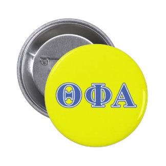 Theta Phi Alpha Blue Letters Pinback Button