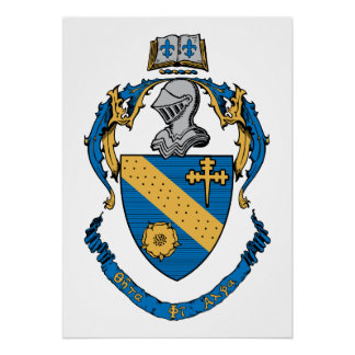 Theta Phi Alpha Coat of Arms Poster