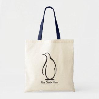 Theta Phi Alpha Penguin Logo Tote Bag