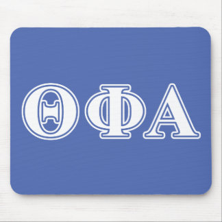 Theta Phi Alpha White and Blue Letters Mouse Pad