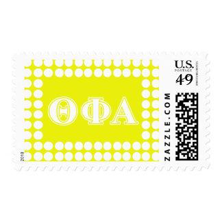 Theta Phi Alpha White and Yellow Postage