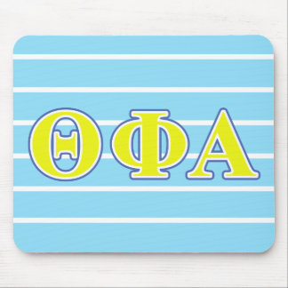 Theta Phi Alpha Yellow and Blue Letters Mouse Pad