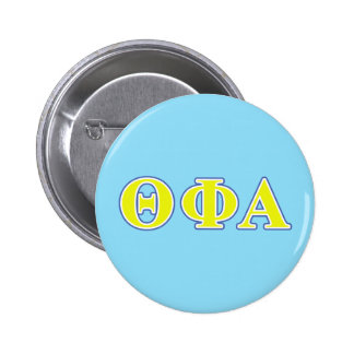 Theta Phi Alpha Yellow and Blue Letters Pinback Button