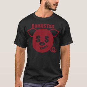 Theta Pig Red on Black T-Shirt