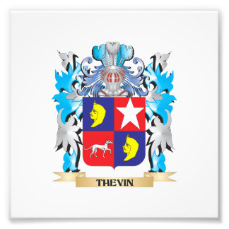 Thevin Coat of Arms - Family Crest Photograph