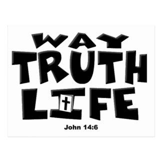 TheWay, Truth, Life Postcard