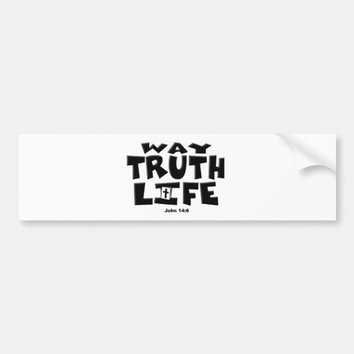 TheWay, verdad, vida Pegatina De Parachoque