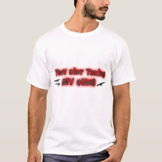 They Aint Taking My Guns with Skull Lettering T-Shirt