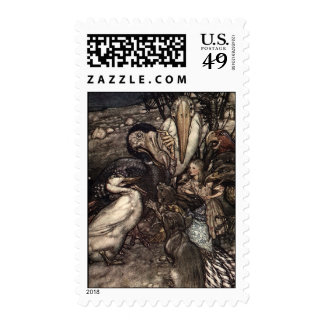 They all crowded round postage stamp