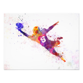they american football to player catching ball photo print