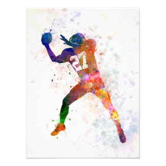 they american football to player man catching photo print