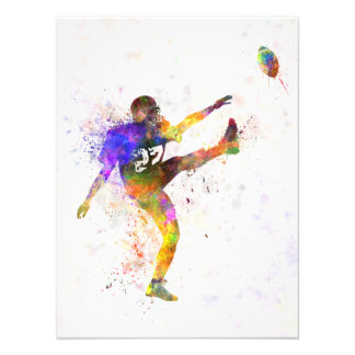 they american football to player man to kicker photo print