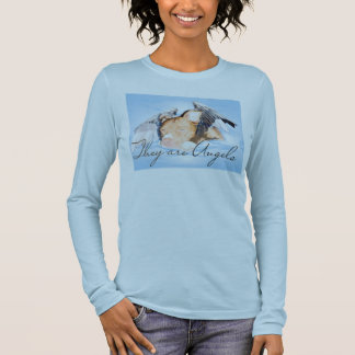 They are Angels Ladies long sleeve Blue Long Sleeve T-Shirt