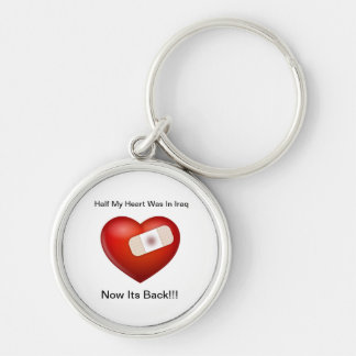 They Are Coming Home! Silver-Colored Round Keychain