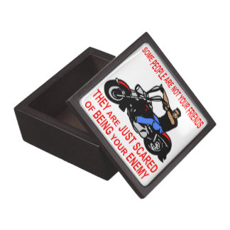 They Are Just Scared Of Being Your Enemy Biker Gift Box