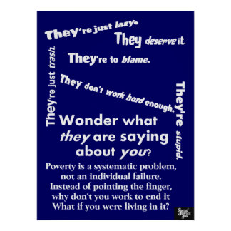They Are Poverty Poster