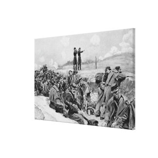 They Awaited the Order to Charge Canvas Print