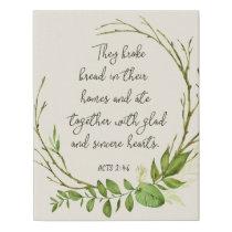 They Broke Bread, Acts 2:46 Farmhouse Canvas Art