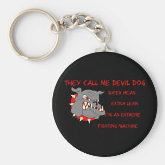 They Call Me Devil Dog Keychains