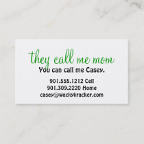 They Call Me Mom Business Cards